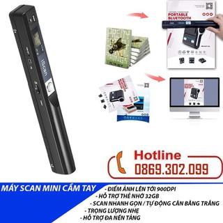 Máy scan màu di động độ nét cao iScan 900DPI - Scan ảnh siêu nhanh - Máy Quét Tài Liệu iScan Mini Cầm Tay Định Dạng JPG Và PDF - Máy iScan thumbnail