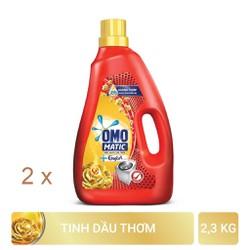 Combo 2 Nước Giặt OMO Matic Comfort Tinh Dầu Thơm Cho Máy Giặt Cửa Trên 2.3Kg x 2
