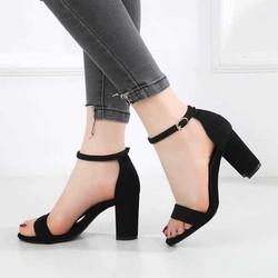 Sandal cao gót - Sandal cao gót da lộn 7p ( miễn ship lấy nhưu hướng dẫn )