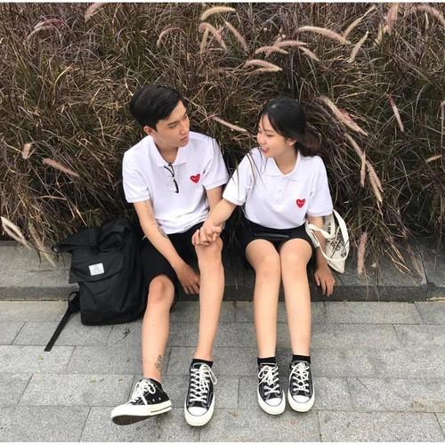 Áo thun trắng tim cdg white shirt heart unisex - 12873431 , 20823685 , 15_20823685 , 119000 , Ao-thun-trang-tim-cdg-white-shirt-heart-unisex-15_20823685 , sendo.vn , Áo thun trắng tim cdg white shirt heart unisex