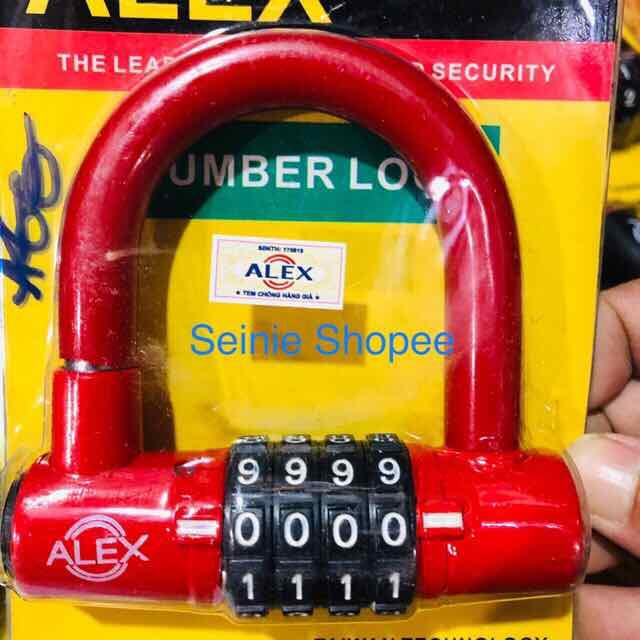 Ổ khoá số tự chọn ALEX có tem chống hàng giả