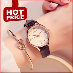 Đồng hồ nữ chính hãng PL-995 dây da cao cấp sang trọng