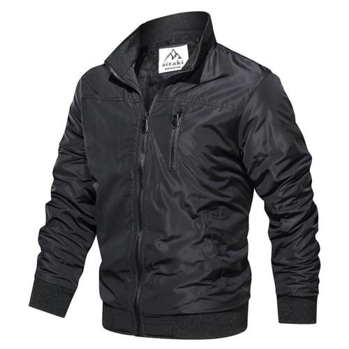 Áo khoác dù chống thấm phối dây kéo ngực cao cấp AKD33