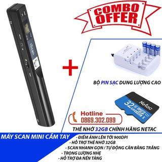 [COMBO] Full bộ phụ kiện dành cho Máy scan màu di động độ nét cao iScan 900DPI Scan ảnh siêu nhanh - Máy Quét Tài Liệu iScan Mini Cầm Tay Định Dạng JPG Và PDF Máy Scan, Thẻ nhớ 32Gb, Pin sạc dung lượng cao Double Pow - Máy Scan + Pin sạc + thẻ 32Gb thumbnail
