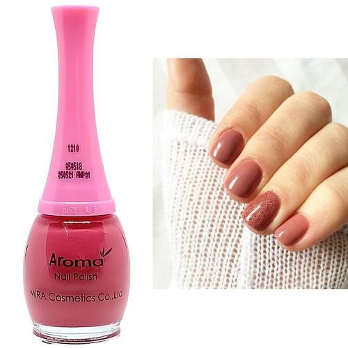 [No.1210 - hồng đất] sơn móng tay aroma nail polish cao cấp hàn quốc 15ml