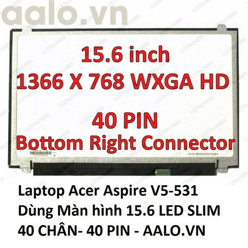 Màn hình laptop acer aspire v5-531