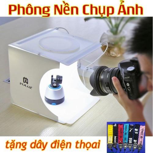 Combo hộp chụp ảnh sản phẩm 6 màu 2 led dây sạc