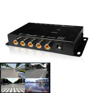 Bộ chia 4 màn hình camera cho Ô tô + 2 Camer cặp lề - HL 4128 thumbnail
