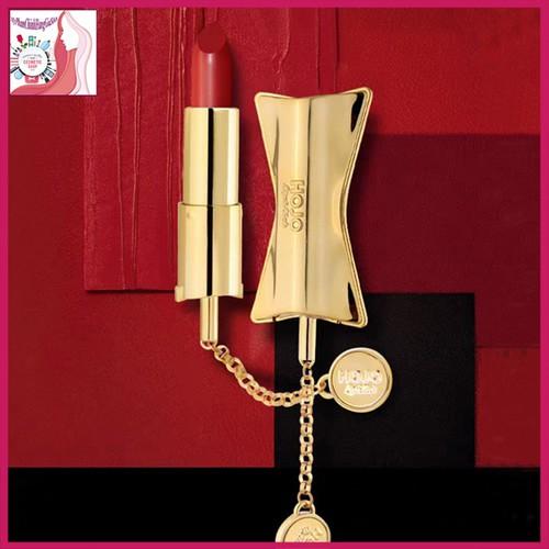 Son lì hojo luxury bow dây lắc vàng mềm mại hot trend