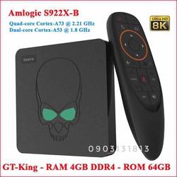 AndroidTV Box Beelink GT-King [Vua Box] S922x, Ram4GB DDR4, Rom64GB, ATV9 Việt Hóa