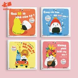 Bộ Ehon Nhật Bản 4 cuốn - Chơi cùng Giri chú bé cơm nắm - Phần 1