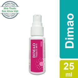 Dimao - Vitamin D3 Dạng Xịt 400IU, Hàng Nhập Khẩu Châu Âu, Hương Dâu, Hiệu Quả Và Hấp Thu Tốt