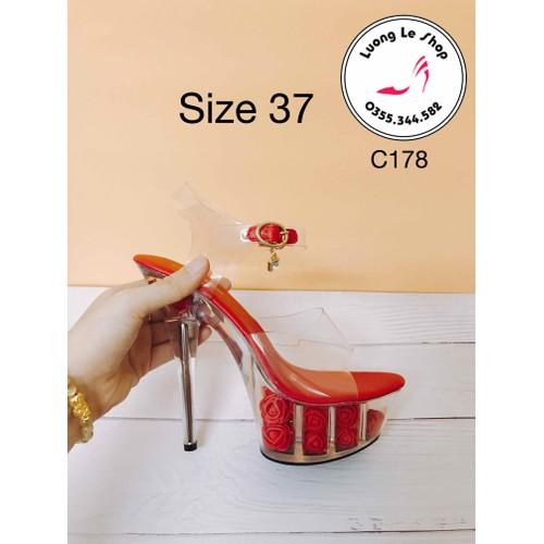 Thanh lý giày cao gót ms c178 màu đỏ quai trong đế gắn full hoa hồng đỏ size 37 - 12142977 , 20829331 , 15_20829331 , 450000 , Thanh-ly-giay-cao-got-ms-c178-mau-do-quai-trong-de-gan-full-hoa-hong-do-size-37-15_20829331 , sendo.vn , Thanh lý giày cao gót ms c178 màu đỏ quai trong đế gắn full hoa hồng đỏ size 37