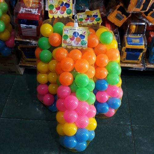 Đồ chơi trẻ em túi banh nhựa 50 trái