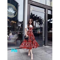 [SIÊU SALE] Đầm maxi áo và chân váy xòe 40-60kg 40-60kg thiết kế Cao cấp