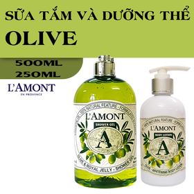 Combo Sữa Tắm và Dưỡng thể LAmont En Provence Hương Olive & Honey - ST và DT OLIU