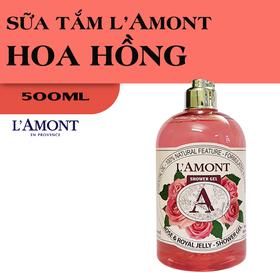 Sữa Tắm LAmont En Provence Hương Hoa Hồng chai 500ml - 1 SỮA TẮM HOA HỒNG 500ml