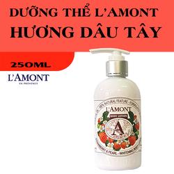 Sữa Dưỡng Thể Trắng Da LAmont En Provence Hương Dâu Tây 250ml