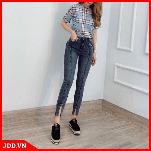 Quần jean nữ ống đứng