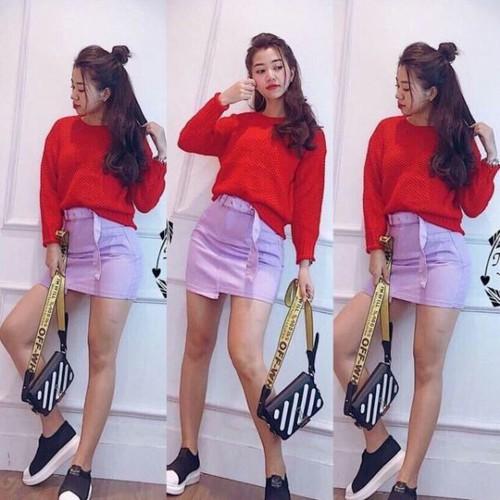 Set áo len đỏ kèm chân váy tím - 17405587 , 20863617 , 15_20863617 , 160000 , Set-ao-len-do-kem-chan-vay-tim-15_20863617 , sendo.vn , Set áo len đỏ kèm chân váy tím