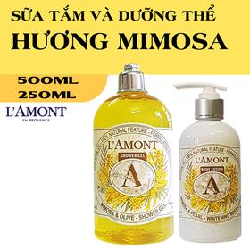 Combo Sữa Tắm và Dưỡng thể LAmont En Provence Hương Hoa Mimosa - ST và DT MIMOSA