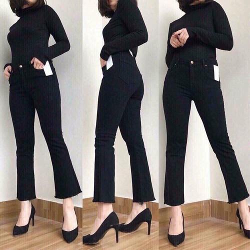 [Siêu sale]  jean nữ ống loe co giãn tốt cao cấp size 28,29,30