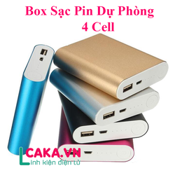 Box sạc pin dự phòng 4 Cell Pin 18650