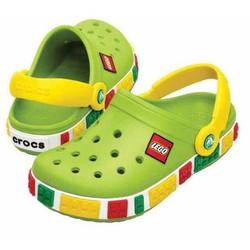 Sục crocs-legoo cho bé màu xanh lá