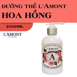 Sữa Dưỡng Thể Trắng Da LAmont En Provence Hương Hoa Hồng 250ml