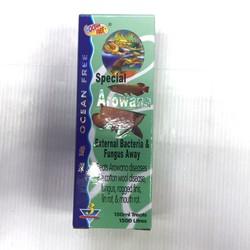 Thuốc chữa bệnh cho cá rồng và cá dòng cá cảnh cao cấp khác, chuyên trị các bệnh cho cá rồng như: Nấm, cá rồng rách vây, cá rồng thối vây, cá rồng thối miệng, các vết thương trên mình cá rồng