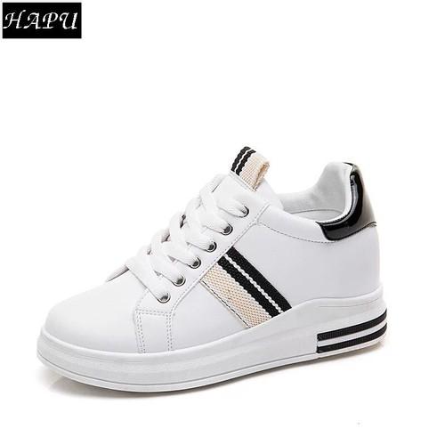 Giày sneạker nữ độn đế đẹp sọc chéo hông, gót da bóng hapu trắng đỏ, trắng đen - 17071158 , 21988845 , 15_21988845 , 329000 , Giay-sneaker-nu-don-de-dep-soc-cheo-hong-got-da-bong-hapu-trang-do-trang-den-15_21988845 , sendo.vn , Giày sneạker nữ độn đế đẹp sọc chéo hông, gót da bóng hapu trắng đỏ, trắng đen