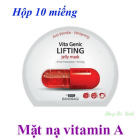 Hộp 10 miếng mặt nạ vitamin A Banobagi chính hãng - 567