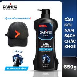 Dầu gội cho tóc sạch chắc khỏe dành cho nam giới Dashing Click Men Shampoo 650g - Tặng nón