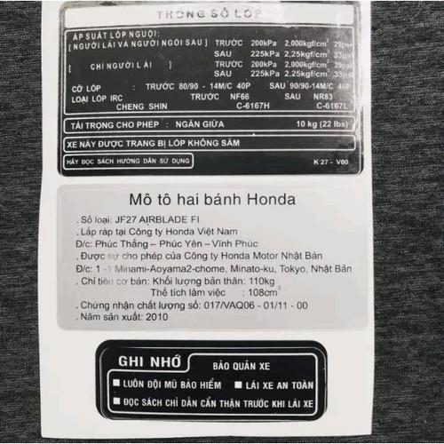 [Biker ơi] tem dán xe máy đầy đủ thông số ab airblade việt nam - 12714784 , 20869651 , 15_20869651 , 25000 , Biker-oi-tem-dan-xe-may-day-du-thong-so-ab-airblade-viet-nam-15_20869651 , sendo.vn , [Biker ơi] tem dán xe máy đầy đủ thông số ab airblade việt nam