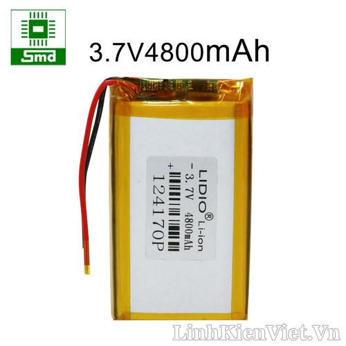 Pin lithium 124170 4800mah 3.7v