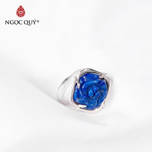 Nhẫn bạc đính hoa mẫu đơn đá lapis lazuli - ngọc quý gemstones - 12472191 , 20886857 , 15_20886857 , 1430000 , Nhan-bac-dinh-hoa-mau-don-da-lapis-lazuli-ngoc-quy-gemstones-15_20886857 , sendo.vn , Nhẫn bạc đính hoa mẫu đơn đá lapis lazuli - ngọc quý gemstones