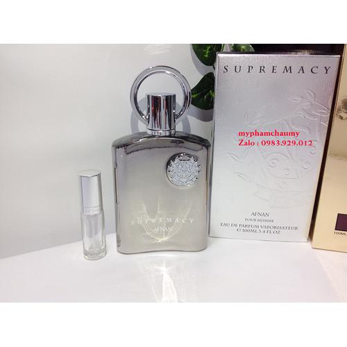 [ chiết 5ml ] nước hoa afnan perfumes supremacy silver - mẫu thử 5ml