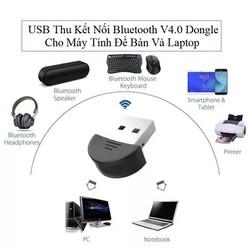 USB Thu Kết Nối Bluetooth V4.0 Dongle Cho Máy Tính Để Bàn Và Laptop