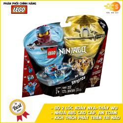 Bộ 2 đồ chơi lắp ráp lốc xoáy Spinjitzu Nya và sư phụ Wu Lego NinjaGo 70663