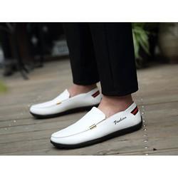 Giày lười nam trắng