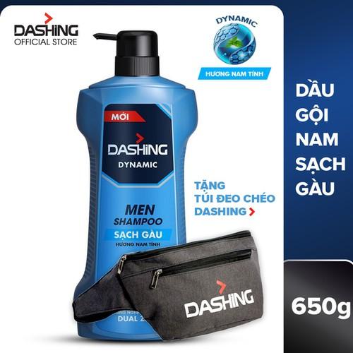 Dầu gội sạch gàu dành cho nam giới Dashing Dynamic Men Shampoo 650g - Tặng túi đeo chéo - 11604523 , 20876745 , 15_20876745 , 147000 , Dau-goi-sach-gau-danh-cho-nam-gioi-Dashing-Dynamic-Men-Shampoo-650g-Tang-tui-deo-cheo-15_20876745 , sendo.vn , Dầu gội sạch gàu dành cho nam giới Dashing Dynamic Men Shampoo 650g - Tặng túi đeo chéo