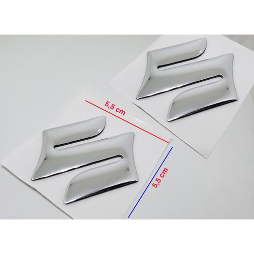 2 logo suzuki - tem suzuki - 5,5 x 5,5 cm