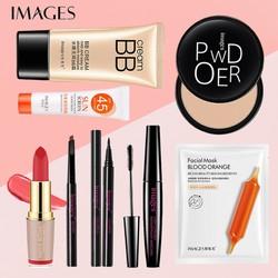 Bộ trang điểm IMAGES 8 món Kem BB + Kem chống nắng + Phấn phủ + Chì kẻ mày + Bút kẻ mắt + Mascara + Mặt nạ + Son lì JS-BTD80