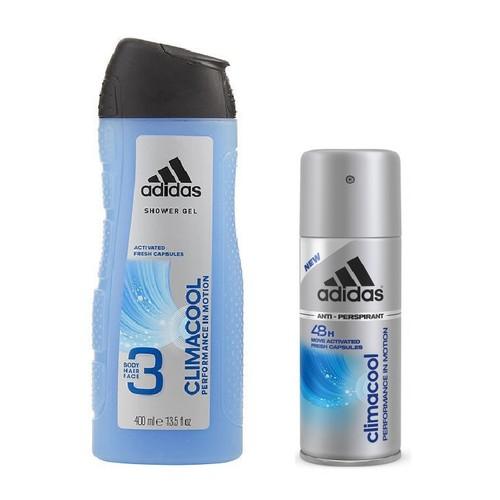 Combo tắm gội rửa mặt + xịt khử mùi adidas climacool