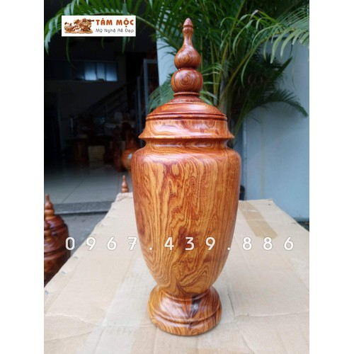 Lọ trang trí gỗ cẩm lai - pq105