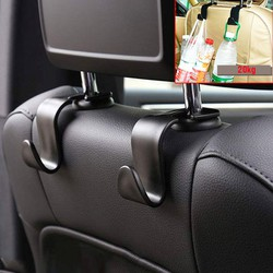 Bộ 02 móc treo đồ gắn sau ghế trước xe ô tô