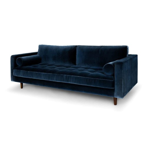 Ghế sofa copenhagen 3 chổ ngồi xanh dương