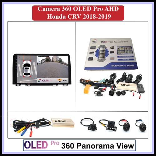 Camera 360 oled pro ahd cho xe honda crv 2018-2019