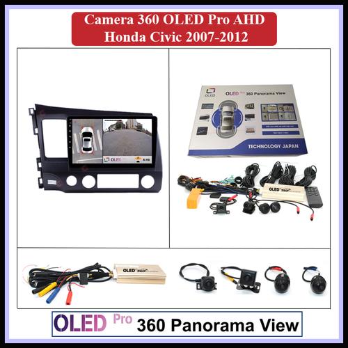 Camera 360 oled pro ahd cho xe honda civic 2007-2012