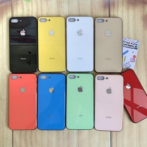 Ốp lưng iphone 7 plus - 8 plus viền silicon lưng kinh giả xr